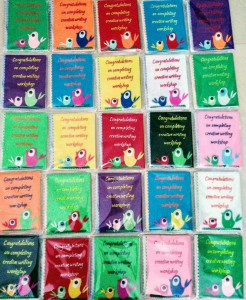 Customized hand crafted notebooks for all the kids